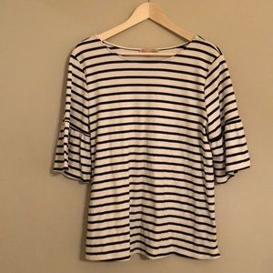 Large Gibson Latimer Striped Bell Sleeve